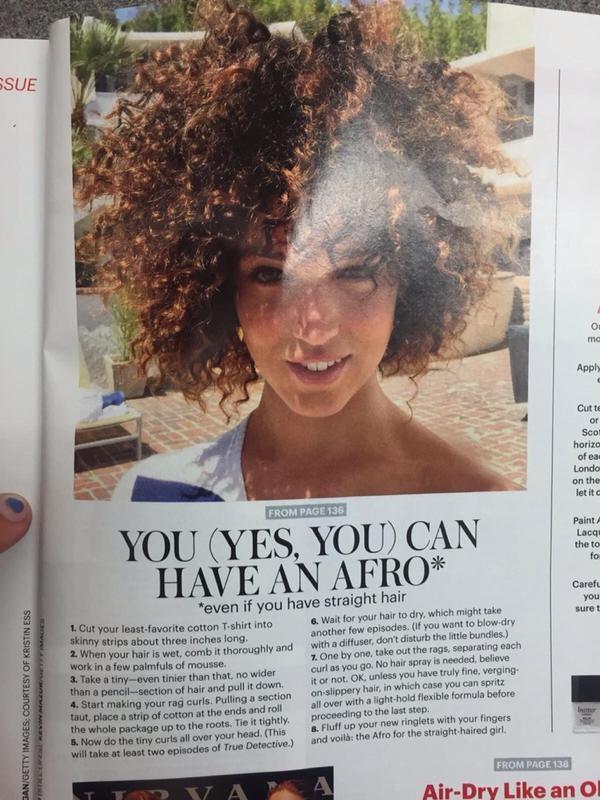 White girl afro hair tutorial | foto & video.